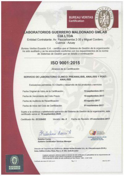 certificado-ISO-9001-2015-GMLABORATORIOS